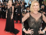 Charlize Theron In Christian Dior Couture - Cannes Film 70th Anniversary Celebration
