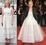 Elisabeth Moss In Emilia Wickstead & Oscar de la Renta - 'The Square' Cannes Film Festival Photocall & Premiere