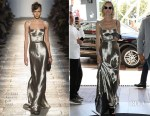 Eva Herzigova In Bottega Veneta - Cannes Film Festival Sighting