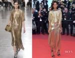 Liya Kebede In Paco Rabanne - '120 Beats Per Minute' Cannes Film Festival Premiere