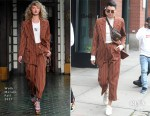 Kendall Jenner In Wolk Morais - Out In New York