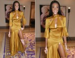 Winnie Harlow In Temperley London - The Petra Stunt Foundation Dinner