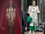 Celine Dion wearing Gucci in Paris
