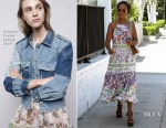 Kerry Washington's summer style shines in Rebecca Taylor florals