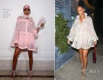 Rihanna heads to dinner at Giorgio Baldi in Fenty x Puma