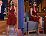 Halle Berry In Elie Saab - The Tonight Show Starring Jimmy Fallon