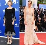 Kristen Wiig In Prabal Gurung & Zuhair Murad Couture - 'Downsizing' Venice Film Festival Photocall & Premiere