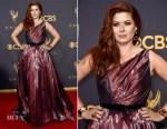 Debra Messing In Romona Keveza - 2017 Emmy Awards
