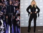 Lady Gaga In Elie Saab - 'Lady Gaga: Five Foot Two' Press Conference