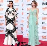Rachel Weisz In Dolce & Gabbana & Rachel McAdams In Elie Saab - 'Disobedience' Toronto Film Festival Premiere