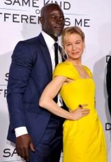 Djimon Hounsou and Renee Zellweger In Carolina Herrera
