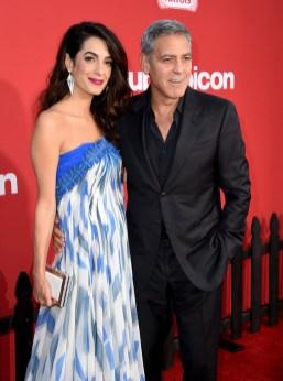 Amal Clooney In Bill Blass