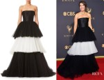 Mandy Moore's Carolina Herrera Strapless Layered Gown