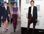 Ruby Rose In Burberry September Collection - Bvlgari Flagship Store Reopening