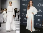 Angela Sarafyan In Mario Dice - HFPA and Instyle Celebration of the 2018 Golden Globe Awards
