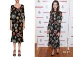 Anne Hathaway's Dolce & Gabbana Heart-Print Midi Dress