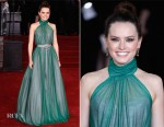 Daisy Ridley In Vivienne Westwood Couture - 'Murder On The Orient Express' World Premiere