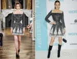 Darby Stanchfield In Yanina Couture - 'Wonder' LA Premiere
