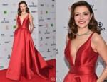 Italia Ricci In Mac Duggal - 45th International Emmy Awards