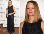 Jodie Foster In Giorgio Armani - Harper's Bazaar Women Of The Year Awards 2017