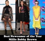 Best Newcomer of 2017- Millie Bobby Brown