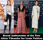 Brand Ambassador of the Year - Alicia Vikander for Louis Vuitton