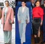 Crown Princess Victoria of Sweden In Rodebjer, Acne & Stylein - The Duke And Duchess Of Cambridge Visit To Sweden