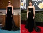 Dakota Johnson In Gucci - 2018 Golden Globe Awards
