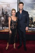 Elsa Pataky In Dolce & Gabbana and Chris Hemsworth In John Varvatos - '12 Strong' World Premiere