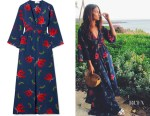 Lily Aldridge's Jaline Ella Floral-Print Silk Robe