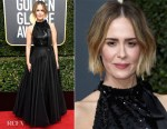 Sarah Paulson In Calvin Klein by Appointment - 2018 Golden Globe Awards
