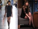 Dakota Johnson In Givenchy - Late Night with Seth Meyers