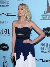 Anna Camp In Self-Portrait - 2018 Make-Up Artists And Hair Stylists Guild Awards