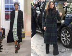 Meghan Markle In Burberry, Wolford & Veronica Beard - Edinburgh Visit