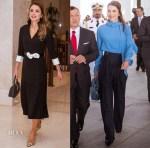 Queen Rania Of Jordan In Diamondogs & Reema Al Banna - UAE Visit