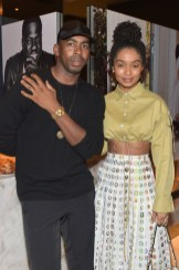 Jason Bolden and Yara Shahidi attend The Hollywood Reporter and Jimmy Choo Power Stylists Dinner