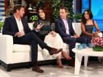 Bellamy Young In Self-Portrait & Kerry Washington In Altuzarra - The Ellen DeGeneres Show