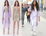 Camila Alves In Alice + Olivia, L'Agence & J Brand - Out In New York