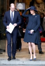 Catherine, Duchess of Cambridge and Prince William, Duke of Cambridge depart from the 2018 Commonwealth Day service at Westminster Abbey on March 12, 2018 in London, England.