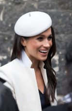 Meghan Markle leaves after attending the Commonwealth Service at Westminster Abbey on March 12, 2018 in London, England.