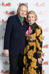 """Festival programmer Brian Robinson and director Trudie Styler attend a screening of """"Freak Show"""" during the BFI FLARE: LGBTQ+ Film Festival 2018"""