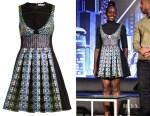 Lupita Nyong'o's Mary Katrantzou Narcisse Circle-Jacquard Dress
