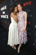 Taylor Russell in Miu Miu and Mina Sundwall in Giambattista Valli