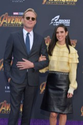 Paul Bettany and Jennifer Connelly arrive at the Premiere Of Disney And Marvel's 'Avengers: Infinity War'