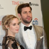 Emily Blunt and John Krasinski attend the 2018 Time 100 Gala