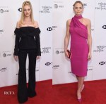Nicola Peltz In Vera Wang Collection & Jennifer Morrison In Cushnie et Ochs - 'Back Roads' Tribeca Film Festival Premiere