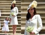 Catherine, Duchess of Cambridge In Alexander McQueen - Prince Harry & Meghan Markle's Royal Wedding