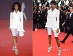 Damaris Lewis In Off-White - 'Blackkklansman' Cannes Film Festival Premiere