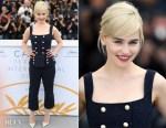 Emilia Clarke In Dolce & Gabbana - 'Solo: A Star Wars Story' Cannes Film Festival Photocall