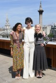 Thandie Newton in Duro Olowu, Phoebe Waller-Bridge In Mother of Pearl and Emilia Clarke In Michael Kors Collection